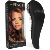 Le Beaute Detangling Hair Brush - Professional Salon Quality - Perfect For All Hair Types - Jet Black