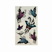 MapofBeauty Butterfly Temporary Tattoo Waterproof Body Tattoo Sticker