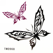 MapofBeauty Butterflies Temporary Waterproof Body Tattoo Sticker