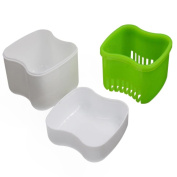 Creazy New Denture Bath Box Case Dental False Teeth Storage Container Rinsing Basket
