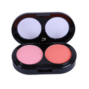 Newest trent 2 Colours Face Blush Powder Contour Make Up Powder Palette Beauty Facial Repair Powder Contouring Blush with Brush