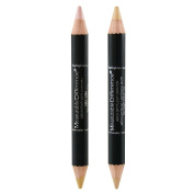 Measurable Difference Arch Spotlight Duo Sided Concealer Highlighter and Corrector Pencil 2 Piece Kit, Light & Yellow