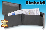 Rimbaldi - Micro-leather purse made of natural calf leather in black