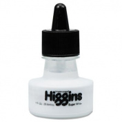 Super White Pigmented Drawing Ink, White - HIG44100