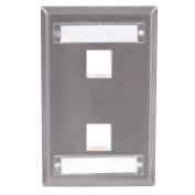 Plate, 2 Ports, Grey - 1 Each