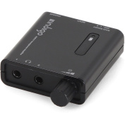 Indigo Portable Powered Headphone Amplifier with Dual Outputs and 2-Level Boost