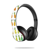 Mightyskins Protective Vinyl Skin Decal Cover for Dr. Dre Beats Solo2 Headphones wrap sticker skins Rainbow Pineapples