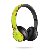Mightyskins Protective Vinyl Skin Decal Cover for Dr. Dre Beats Solo2 Headphones wrap sticker skins Softball Collection