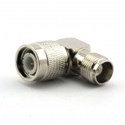 Maxmoral 1PCS TNC Male to TNC Female Connector RF Right Angle Adapter