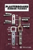 Heavy Duty Mirror Fixings + Hooks + Straps + Fittings for a Plasterboard Wall