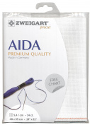 14 Count Aida Antique White 50x55cm (19.5x21.5 inches) - Fat Qtr