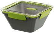 Emsa 513953 1.5 Litre Microwave Safe Lunch Or Snack Bento Box, Green/Grey
