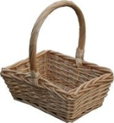 Childs Wicker Rectangle Shopping Easter Basket