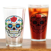 CafePress - Sugar Skull - Pint Glass, 470ml Drinking Glass