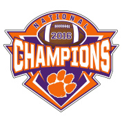 Clemson 2016 National Champions Decal