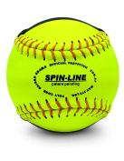Spin-Line Striped Practise Softball Leather