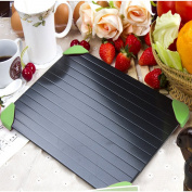 Mocatrend Fast Defrosting Tray - The Safest Way to Defrost Meat or Frozen Food Quickly Without Electricity, Microwave, Hot Water or Any Other Tools