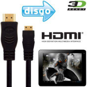 DISGO Busbi 7 Tablet Android Tablet PC HDMI Mini to HDMI TV 3m Wire Lead Cable This high speed HDMI cable connects the DISGO Busbi 7 Tablet PC to any TV with a HDMI port. Play movies, games & apps on your television
