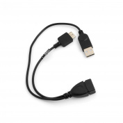 SYSTEM-S USB 2.0 OTG On the Go Host 2 in 1 USB A to USB 3.0 Micro B & USB A Cable 30 cm