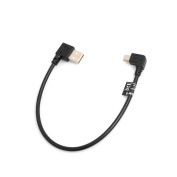 SYSTEM-S Mini USB 90° Left Angled to USB Type A (Male) 90° Right Angled Cable 26 cm