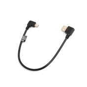 SYSTEM-S Mini USB 90° Right Angled to USB Type A (Male) Left Angled Cable 26 cm