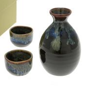 Japanese Calligraphy Sake Set, 1:2 Aequorea