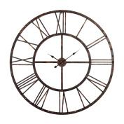 Utopia Alley Rivet Roman Industrial Oversize Wall Clock, Antique Bronze, 110cm L x 110cm H