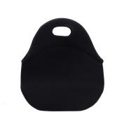 Hippih Insulated Waterproof Durable Neoprene Lunch Tote Bag ,Black