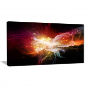 "Designart PT6051-80cm - 41cm Elegance of Nebulae"" Canvas Artwork, Red, 80cm x 41cm"