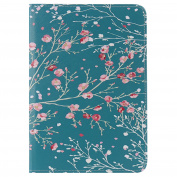 For iPad Mini1/2/3 Case,iPad Mini1/2/3 Wallet Case,EC-touch Simple Beautiful Colourful Flower [Magnetic] Style PU Leather Case Wallet Flip Stand [Flap Closure] Cover for iPad Mini1/2/3
