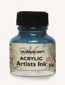 Manuscript Acrylic Artists Ink 30ml-Turquoise
