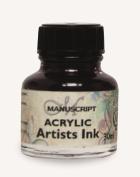 Manuscript Acrylic Artists Ink 30ml-Sepia