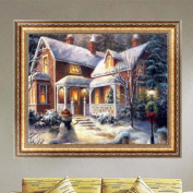Doober DIY 5D Diamond Winter Snow House Painting Cross Stitch Kit Embroidery Home Decor