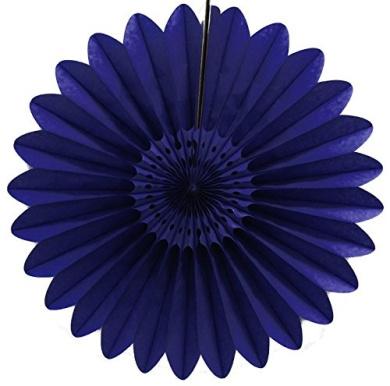 3-pack 70cm Extra-Large Honeycomb Tissue Paper Party Fanburst Decoration (Navy Blue)