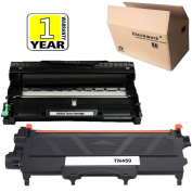 Etechwork DR420 Drum Unit and TN420 TN450 Toner Cartridge 2 Pack Black High Yield Compatible with Brother Laser Printer MFC-7860DW MFC-7360N MFC-7365DN HL-2220 Printer Series