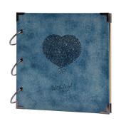 FaCraft Scrapbook Album Heart Printed,Vintage Photo Allbum as Ideal Gifts for Wedding,Valentines,Travel Book,Graduation Recording