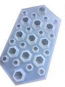 Touch Life 3D Diamond Shap Ice Cube Tray Cholocate Mould Flexible Food Grade Silicone, White
