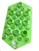 Touch Life 3D Diamond Shap Ice Cube Tray Cholocate Mould Flexible Food Grade Silicone, Green