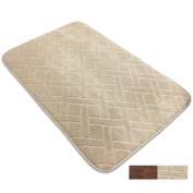 Non-Slip Bath Mat Microfiber Brag Bathroom Rugs Carpet Shag Shower Rugs Super-Soft-Size 31X20
