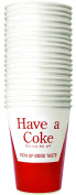Tablecraft CC379 Coca-Cola Logo Printed Paper Cups, Red