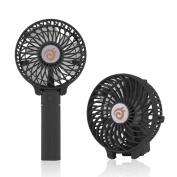 D-FantiX Small Portable Fan Battery Operated Personal Fan Mini USB Rechargeable Handheld Fan for Home, Travel, Bedroom and Office