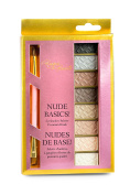 Risque Beaute Eyeshadow Pallet Basic Nudes with Premium Brush Included