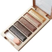 Eyeshadow,Mandy 5 Colour Glitter Eyeshadow Makeup Eye Shadow Palette