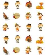 40 Cute Thanksgiving Pilgrims Theme Nail Art Decals