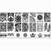 Mandy 1 Pcs DIY Nail Stamp Image Plate Print Nail Art Template