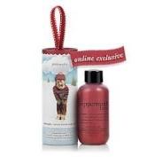 Philosophy Peppermint Bark Shampoo, Shower Gel & Bubble Bath 60ml with ornament packaging by Philosophy Peppermint Bark Shampoo