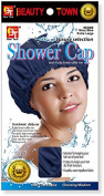 Beauty Town Luxury Shower Cap - Extra Large - 3 PCS Pack - Navy Blue