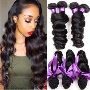 Shireen Brazilian Virgin Hair Loose Wave Hair Weave 3 Bundles 300g 100% Unprocessed Loose Deep Wave Virgin Human Hair Weave Natural Black