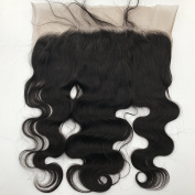 G-EASY 8A Virgin Brazilian Human Hair Frontal Natural Colour Lace Frontal Closure 33cm x 15cm Swiss Lace Frontal Free Part 41cm