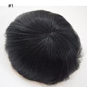 CXYP Men's Toupee Mono Human Hair Toupee Hair Replacement Wig Men's Wig